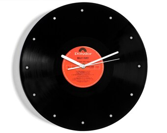 "Billy Fury ""The One And Only"" Vinyl Record Wall Clock"