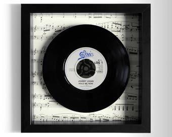 "Johnny Logan ""Hold Me Now"" Framed 7"" Vinyl Record"
