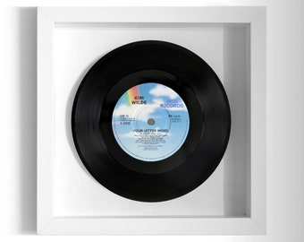 "Kim Wilde ""Four Letter Word"" Framed 7"" Vinyl Record"