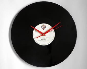 "Bee Gees ""Secret Love"" Vinyl Record Wall Clock"