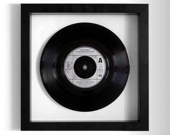"""John Travolta & Olivia Newton-John """"Summer Nights"""" Framed 7"""" Vinyl Record"""