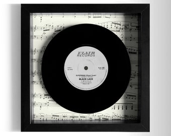 "Black Lace ""Superman"" Framed 7"" Vinyl Record"