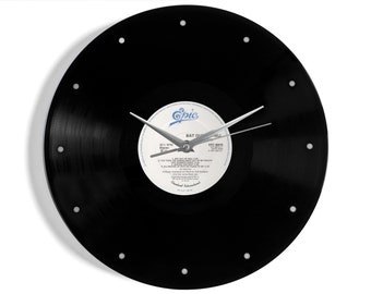 """Meat Loaf """"Bat Out Of Hell"""" Vinyl Record Wall Clock"""