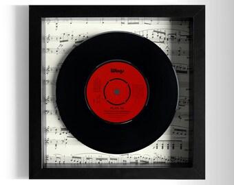"""Wings """"Hi Hi Hi"""" Framed 7"""" Vinyl Record"""