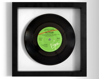 """Phil Collins """"Against All Odds"""" Framed 7"""" Vinyl Record"""