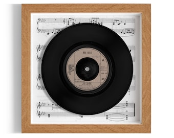 "Bee Gees ""Jive Talkin'"" Framed 7"" Vinyl Record"