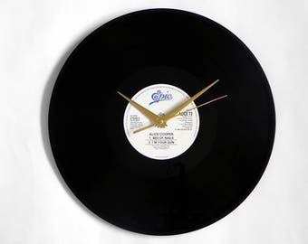 "Alice Cooper ""Bed Of Nails"" Vinyl Record Wall Clock"