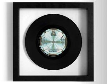 "Stevie Wonder ""I Just Called To Say I Love You"" Framed 7"" Vinyl Record"