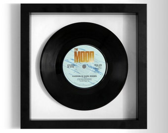 """The Mood """"Passion In Dark Rooms"""" Framed 7"""" Vinyl Record"""