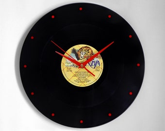 "Rod Stewart ""Foot Loose & Fancy Free"" Vinyl Record Wall Clock"