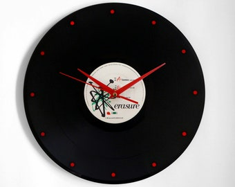 "Erasure ""Sometimes"" Vinyl Record Wall Clock"