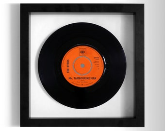 "The Byrds ""Mr Tambourine Man"" Framed 7"" Vinyl Record"