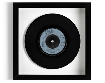 "Shakin' Stevens ""You Drive Me Crazy"" Framed 7"" Vinyl Record"