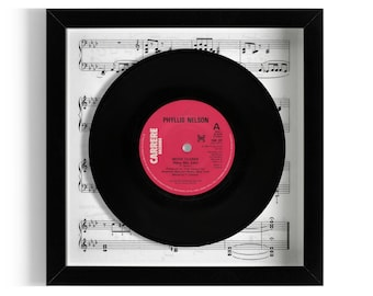 "Phyllis Nelson ""Move Closer"" Framed 7"" Vinyl Record"