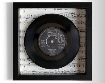 """Diana Ross """"Kiss Me Now"""" Framed 7"""" Vinyl Record"""