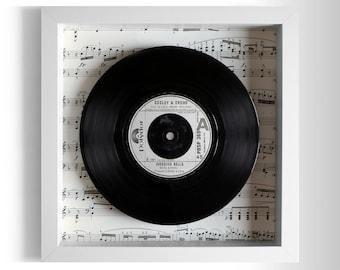 """Godley & Creme """"Wedding Bells"""" Framed 7"""" Vinyl Record"""