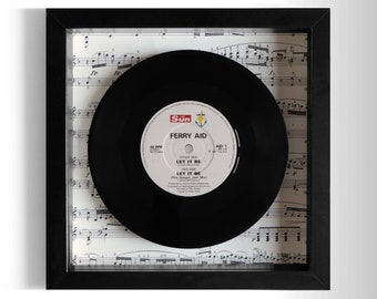 """Ferry Aid """"Let It Be"""" Framed 7"""" Vinyl Record"""