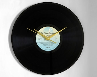"The Three Degrees ""Gold"" Vinyl Record Wall Clock"