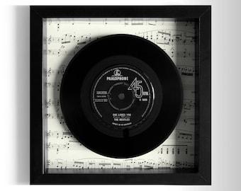 """The Beatles """"She Loves You"""" Framed 7"""" Vinyl Record"""