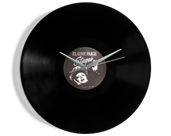 """Elaine Paige """"Stages"""" Vinyl Record Wall Clock"""