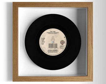 "Donna Summer ""This Time I Know It's For Real"" Framed 7"" Vinyl Record"