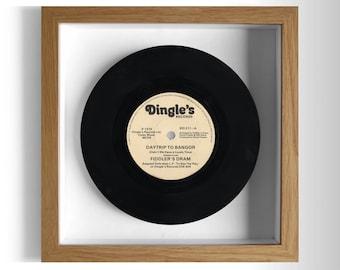 "Fiddler's Dram ""Daytrip To Bangor"" Framed 7"" Vinyl Record"