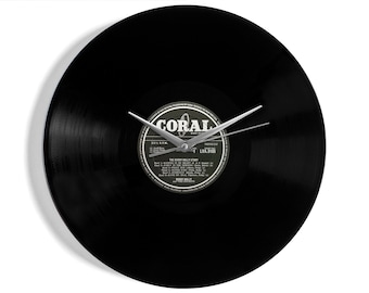 """Buddy Holly """"The Story"""" Vinyl Record Wall Clock"""