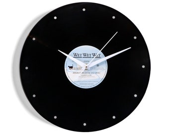 "Wet Wet Wet ""Angel Eyes"" Vinyl Record Wall Clock"