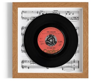 "The Beach Boys ""Good Vibrations"" Framed 7"" Vinyl Record"