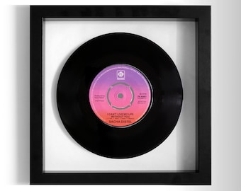 "Sacha Distel ""I Can't Live My Life Without You"" Framed 7"" Vinyl Record"