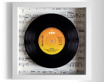 "Andy Williams ""Solitaire"" Framed 7"" Vinyl Record"