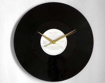 """Phil Collins """"I Missed Again"""" Vinyl Record Wall Clock"""