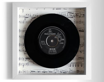 "Billy J Kramer With The Dakotas ""Bad To Me"" Framed 7"" Vinyl Record"