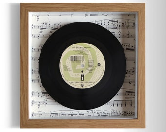"Kiss ""God Gave Rock And Roll To You II"" Framed 7"" Vinyl Record"