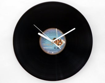 "Boney M ""Nightflight To Venus"" Vinyl Record Wall Clock"
