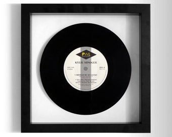 """Kylie Minogue """"I Should Be So Lucky"""" Framed 7"""" Vinyl Record"""