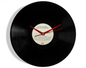 Cliff Richard and the Shadows Vinyl Record Wall Clock