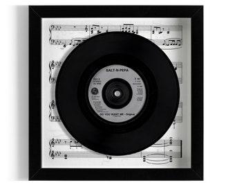 "Salt N Pepa ""Do You Want Me"" Framed 7"" Vinyl Record"