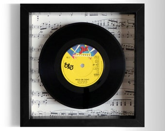 "Electric Light Orchestra ELO ""Hold On Tight"" Framed 7"" Vinyl Record"