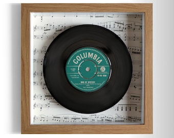 "The Shadows ""Man Of Mystery"" Framed 7"" Vinyl Record"