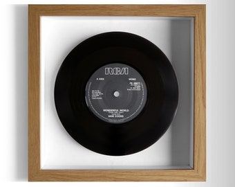 "Sam Cooke ""Wonderful World"" Framed 7"" Vinyl Record"