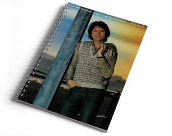 Cliff Richard A5 Notebook from Vintage Vinyl Record Sleeve
