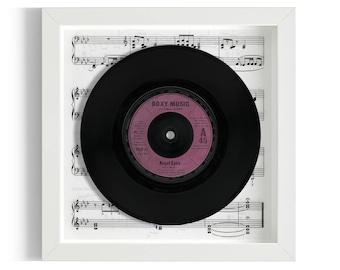"""Roxy Music """"Angel Eyes"""" Framed 7"""" Vinyl Record"""
