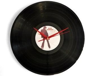 "Cliff Richard ""Rock n Roll Juvenile"" Vinyl Record Wall Clock"
