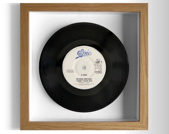 "George Michael ""I Want Your Sex"" Framed 7"" Vinyl Record"