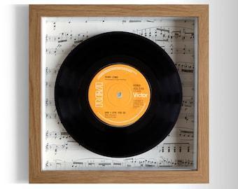 "Perry Como ""And I Love You So"" Framed 7"" Vinyl Record"