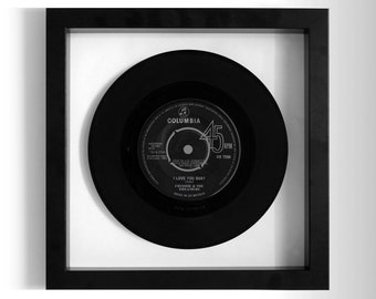 "Freddie & The Dreamers ""I Love You Baby"" Framed 7"" Vinyl Record"