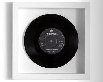 """Pet Shop Boys """"Always On My Mind"""" Framed 7"""" Vinyl Record"""