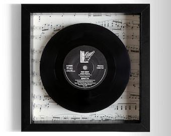 """Sinitta """"Toy Boy"""" Framed 7"""" Vinyl Record"""