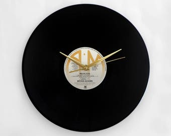 "Bryan Adams ""Reckless"" Vinyl Record Wall Clock"